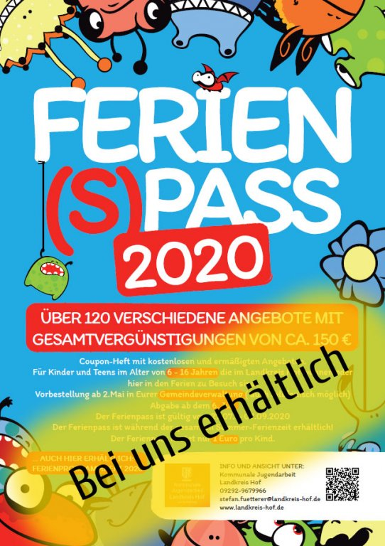 Der Ferienpass 2020 - Flyer